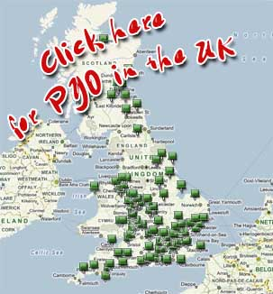 Map of Pick Your Own farms in England, Wales, Scotland, Ireland and the UK